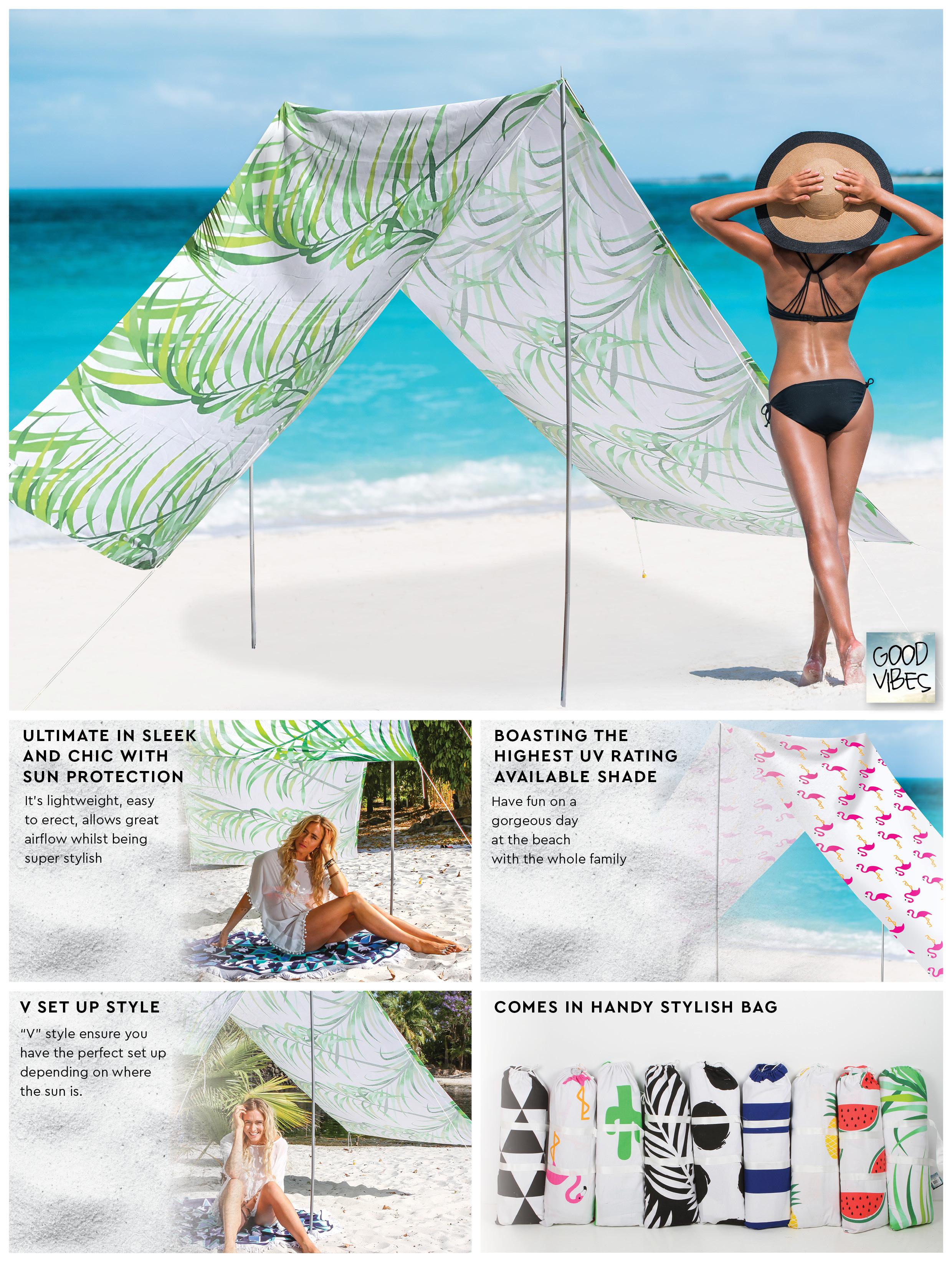 lovin summer beach tent instructions