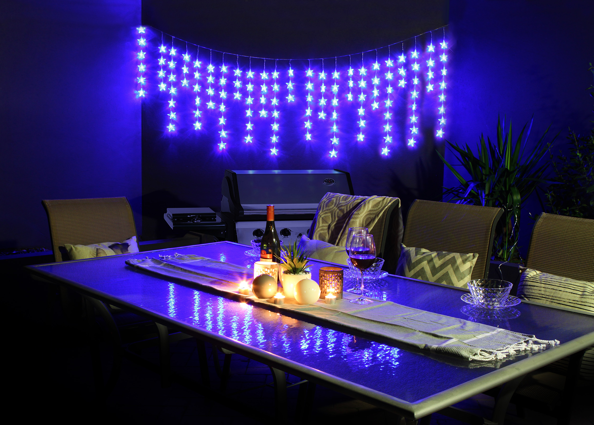 Blue Star String Lights : 100 LED String Lights Blue Star Icicles Light Party Christmas Icicle 7m eBay