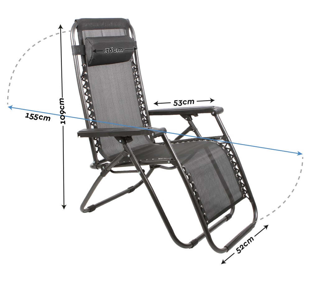 2 x zero gravity outdoor portable foldable reclining lounge camping beach chair ebay - Outdoor mobel lounge ...