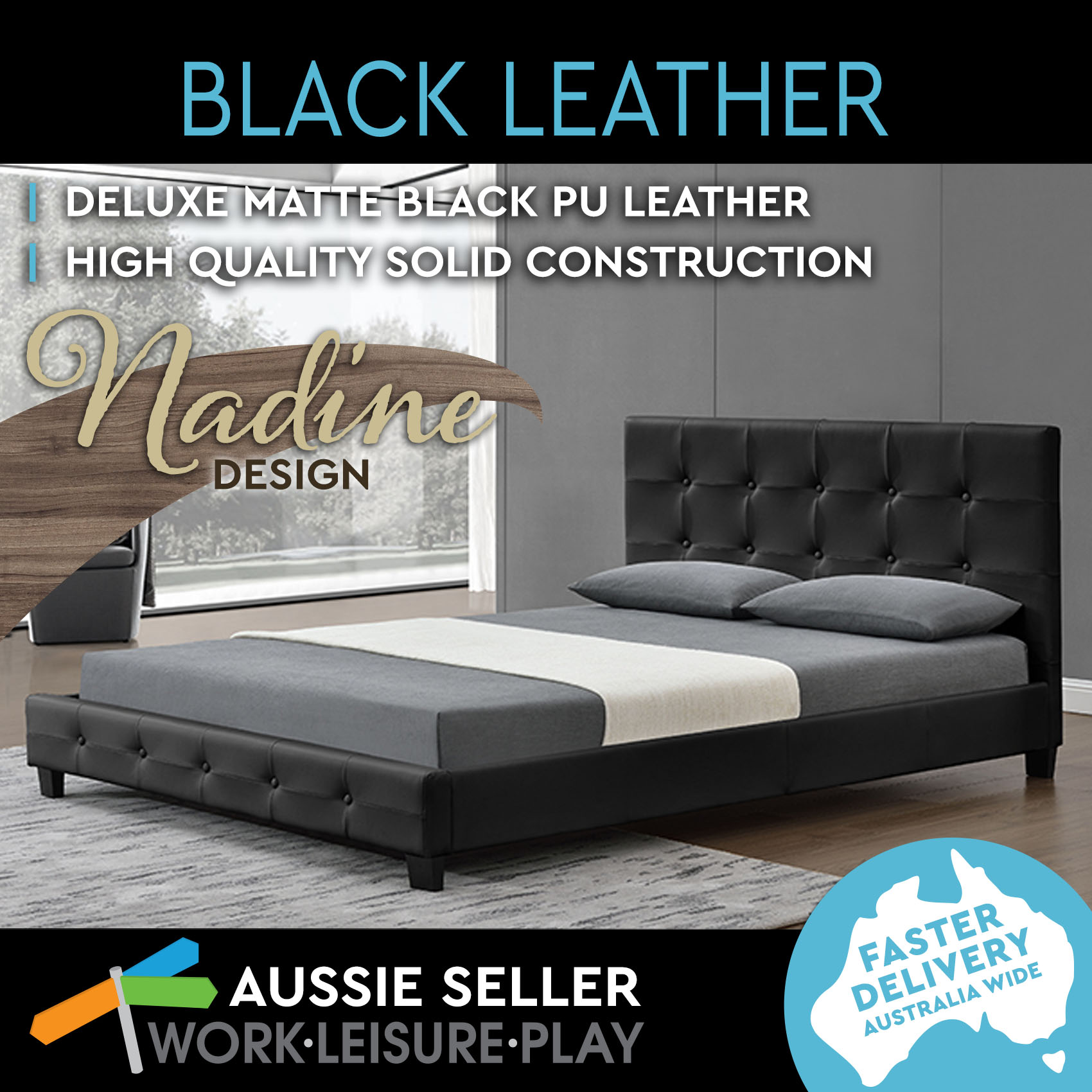 New-Nadine-King-Queen-Size-Bed-Frame-with-6-Multiple-Fabrics-Colours-FREIGHT