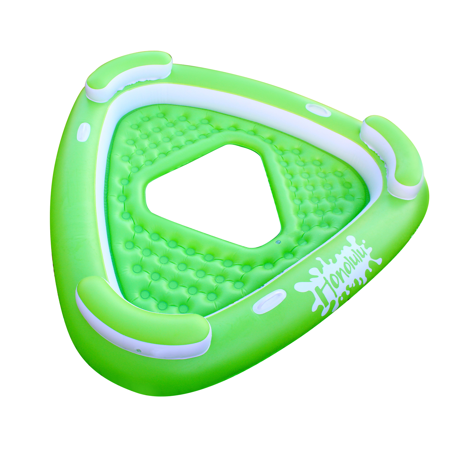 Party Dock 3 Person Inflatable Honolulu Island Tube Biscuit Lounge