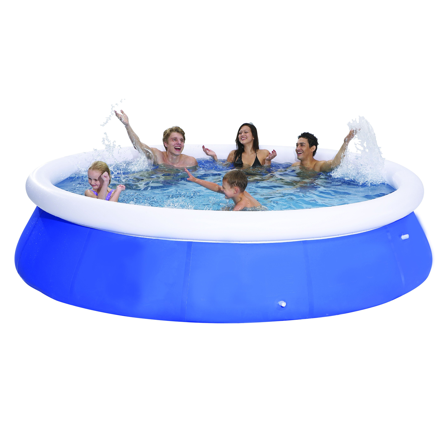 10ft Inflatable Pool Prompt Set Up Round Family Large Deep