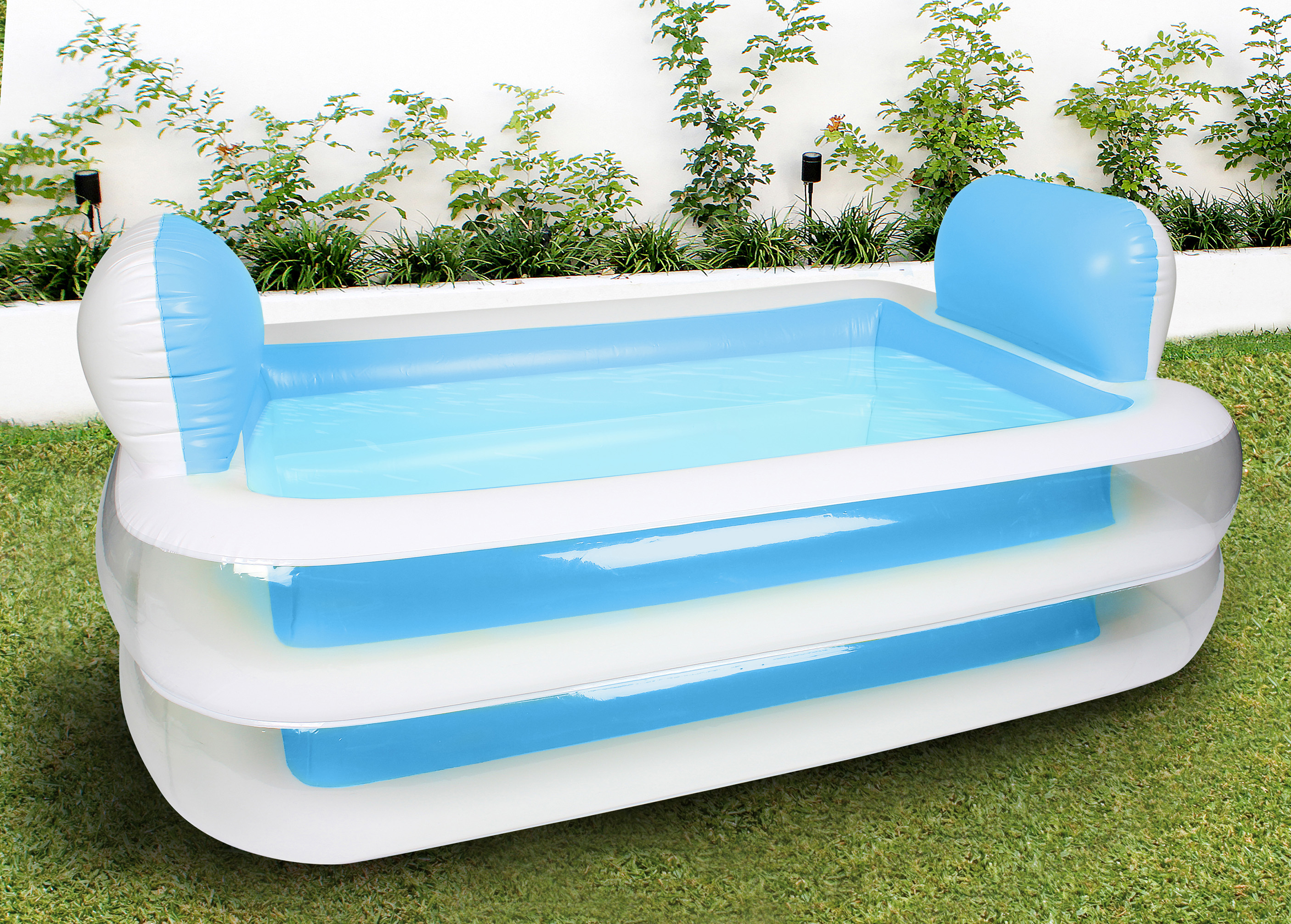 Inflatable family swimming pool rectangular pillows for Garden pool facebook
