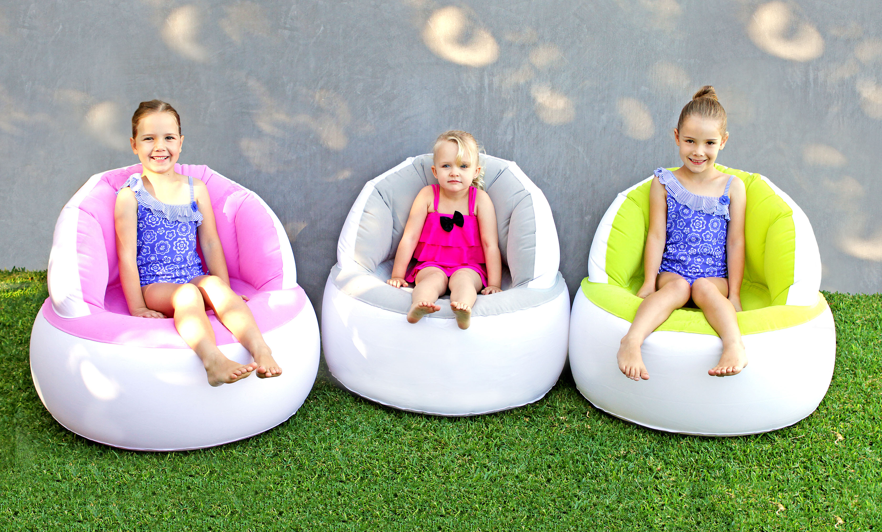 Inflatable Pink Flocked Swimming Pool Lounge Chairs Water Outdoor 83x72cm Aud Picclick Au