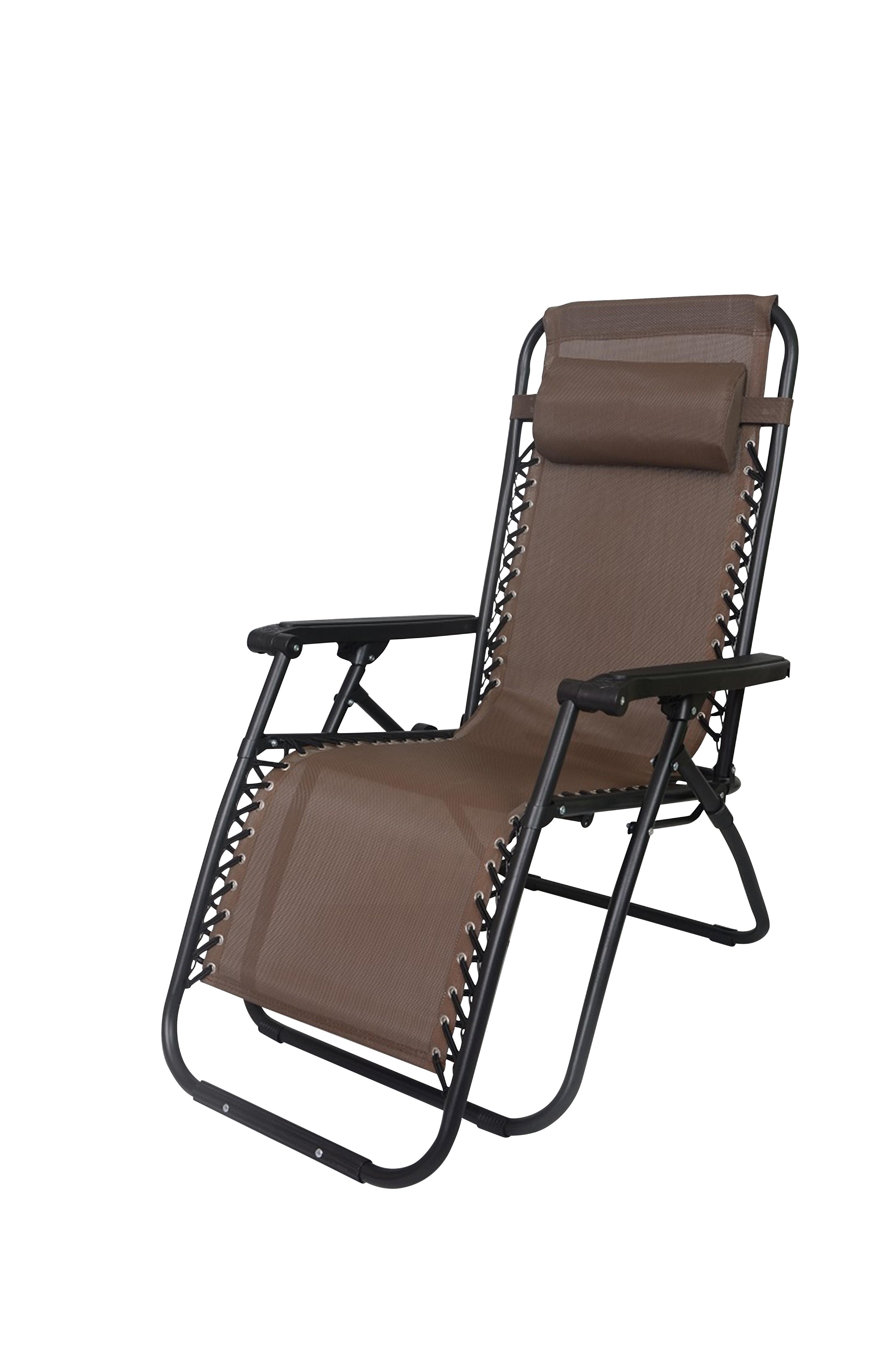 2x Zero Gravity Reclining Deck Lounge Sun Beach Chair Outdoor