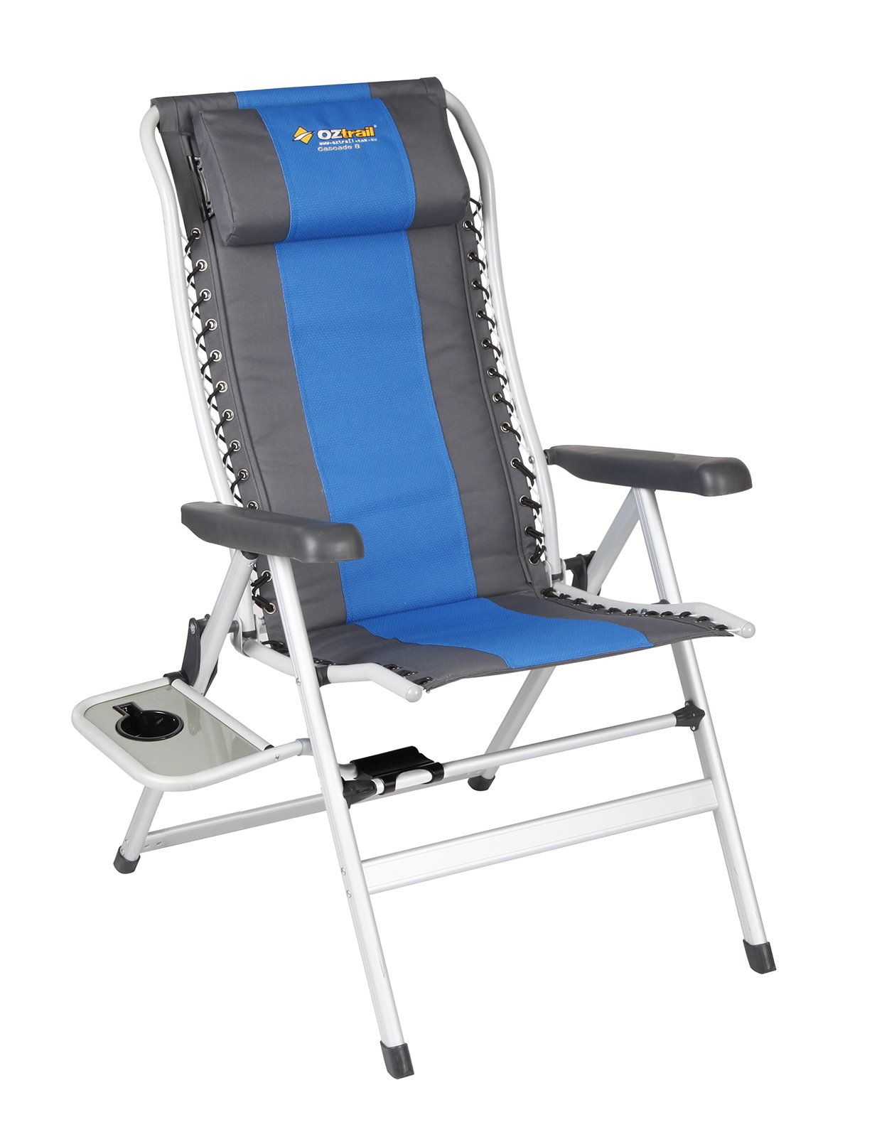 Oztrail Camping Chair Cascade Deluxe 8 Position with Side