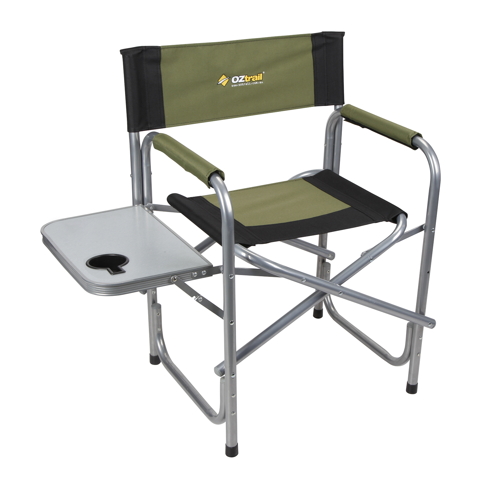 Oztrail Directors Folding Classic Camping Chairs with Side Table Outdoor