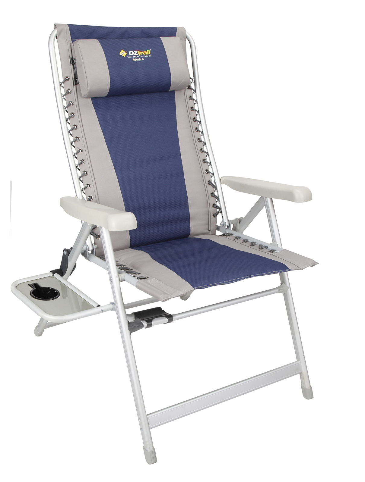 OZtrail Camping Chair Kakadu Jumbo 8 Position with Side Table
