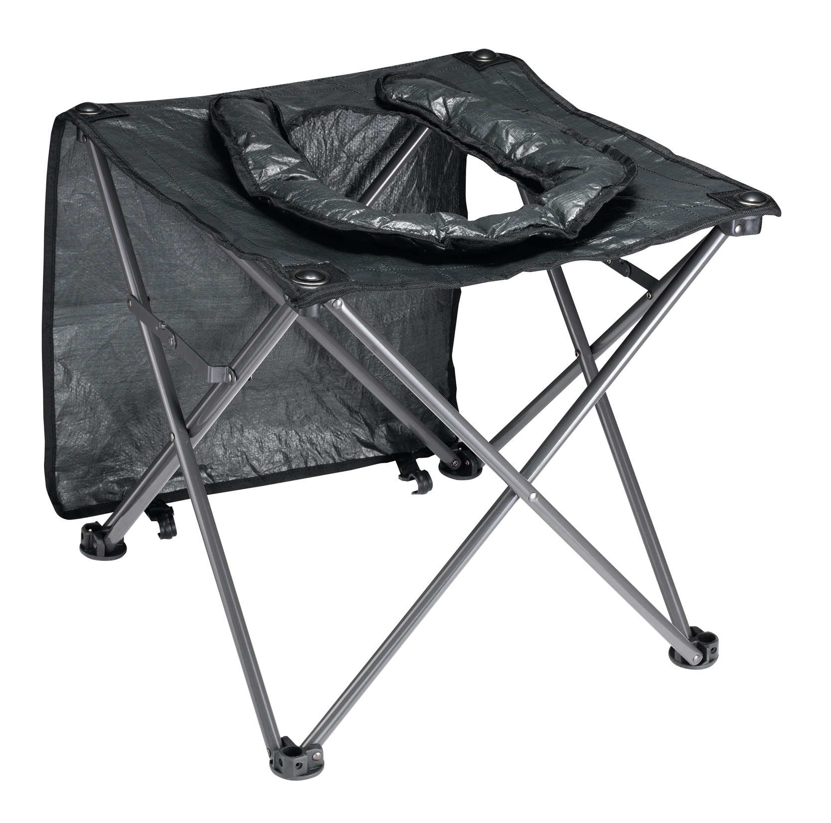 OZtrail Instant Folding Toilet Chair Padded Seat Steel Frame