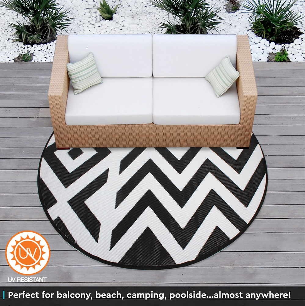 Round Outdoor Rugs For Patios: Outdoor Plastic Rug Mat Recycled Polypropylene Patio 200cm