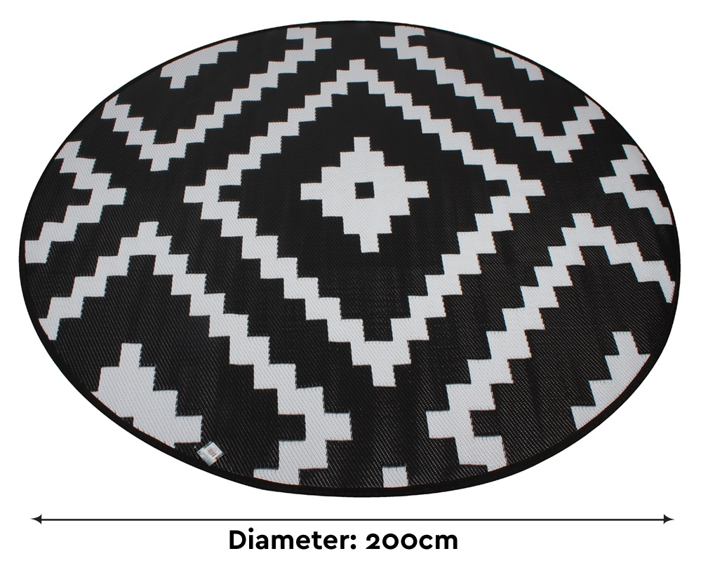 Plastic Outdoor Rug Mat: New Round Black Diamond Office Computer Work Mat Plastic