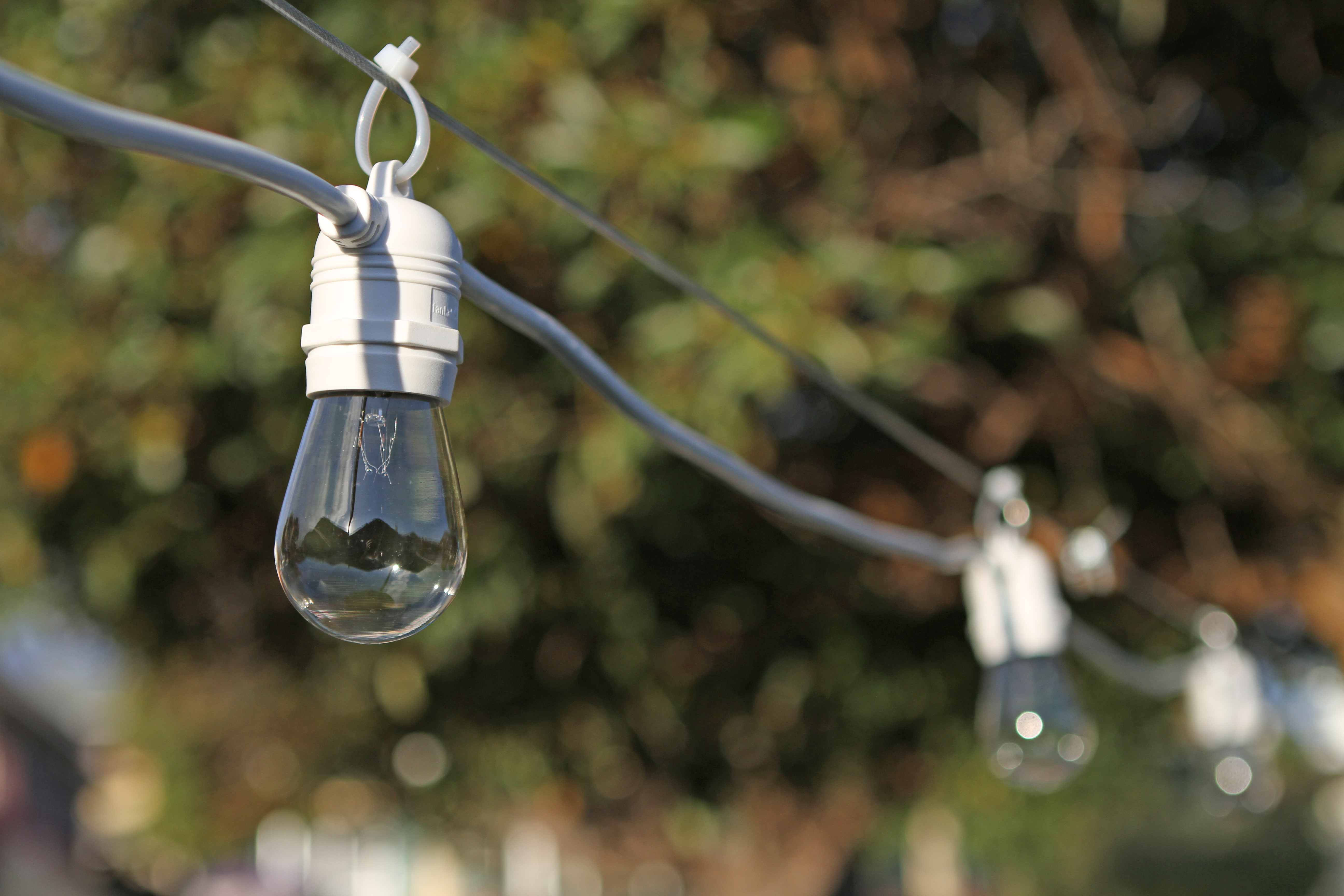 String Lights For Marquee : 10m String Lights Festoon Wedding Party Fairy Outdoor Marquee Vintage Retro Blac