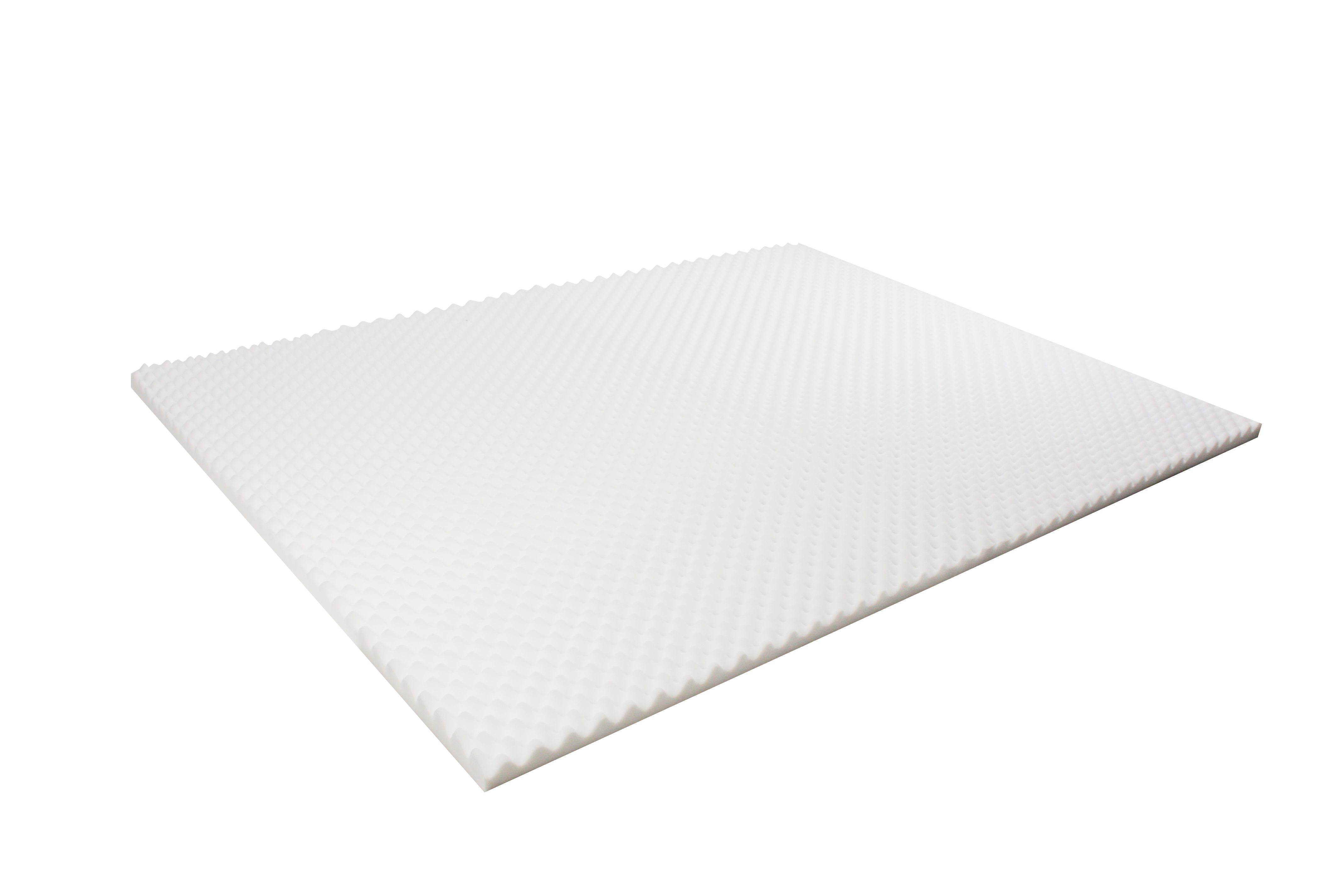 Egg Crate Mattress Topper 5cm Deluxe Underlay Foam Protector Cover All Sizes Ebay