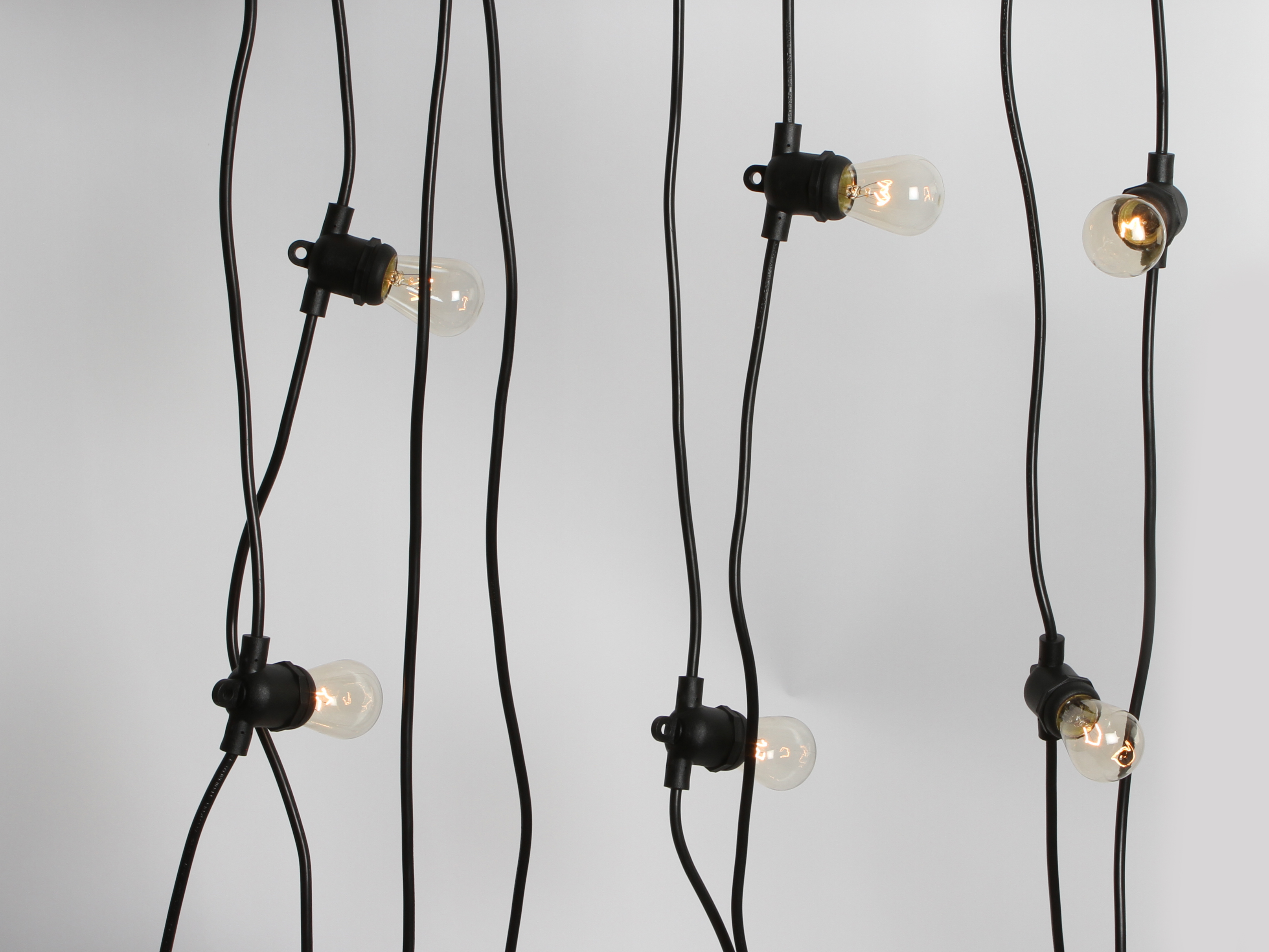 String Lights For Marquee : 5x10m String Lights Festoon Wedding Fairy Outdoor Marquee Retro Vintage Black eBay