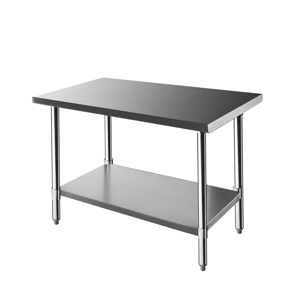 New Stainless Steel Kitchen Work Bench Food Prep Catering Table Adjustable Feet