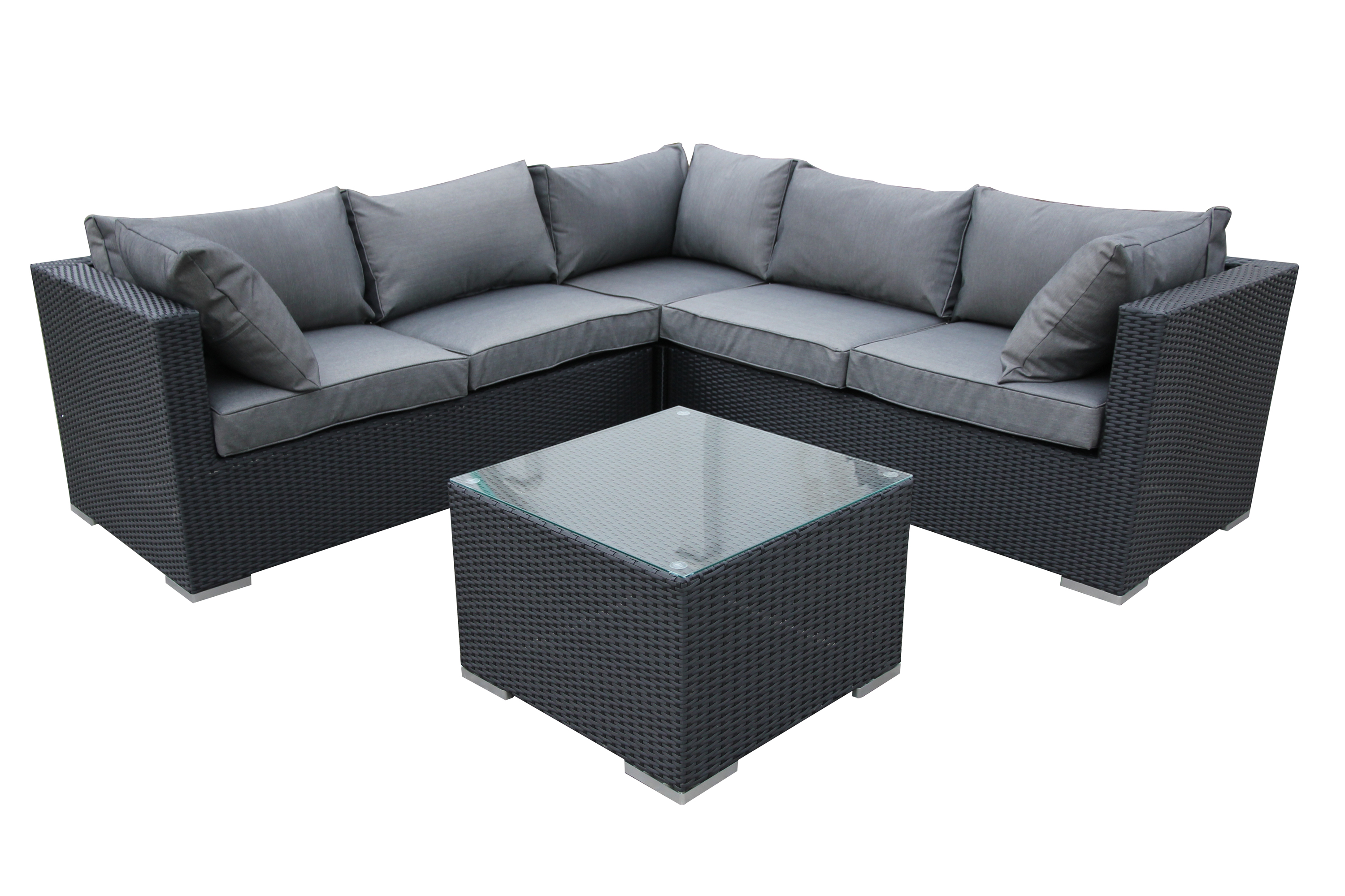sunset seminyak wicker rattan sofa lounge outdoor garden 2 colours 4pc set ebay. Black Bedroom Furniture Sets. Home Design Ideas