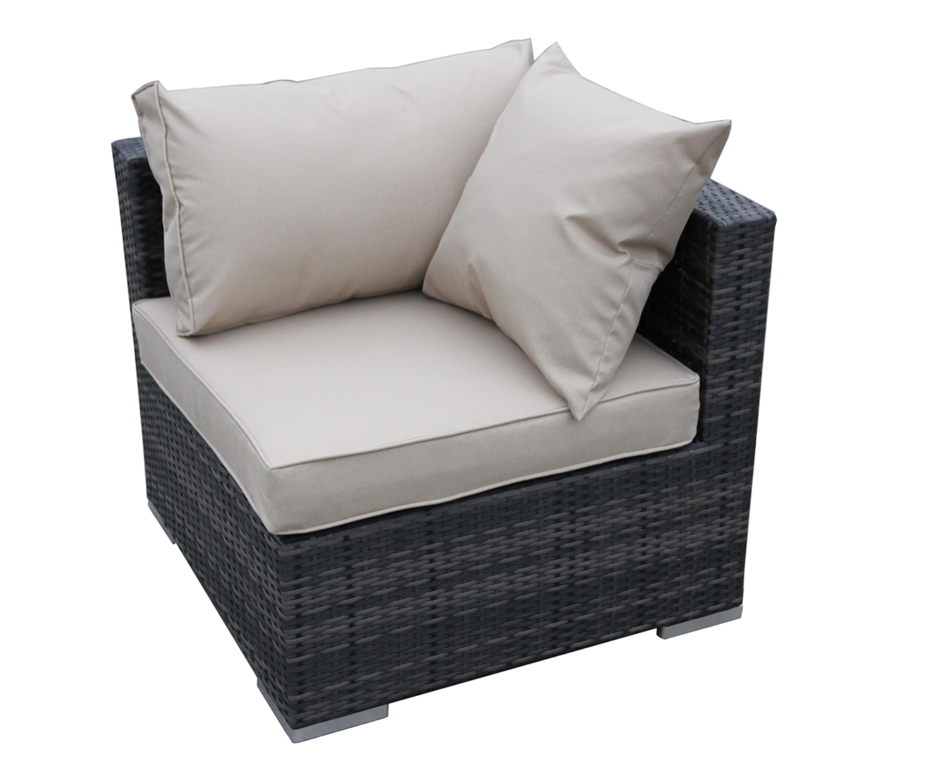 sunset wicker rattan sofa weave lounge curve couch outdoor pool 2 colour 7pc set ebay. Black Bedroom Furniture Sets. Home Design Ideas