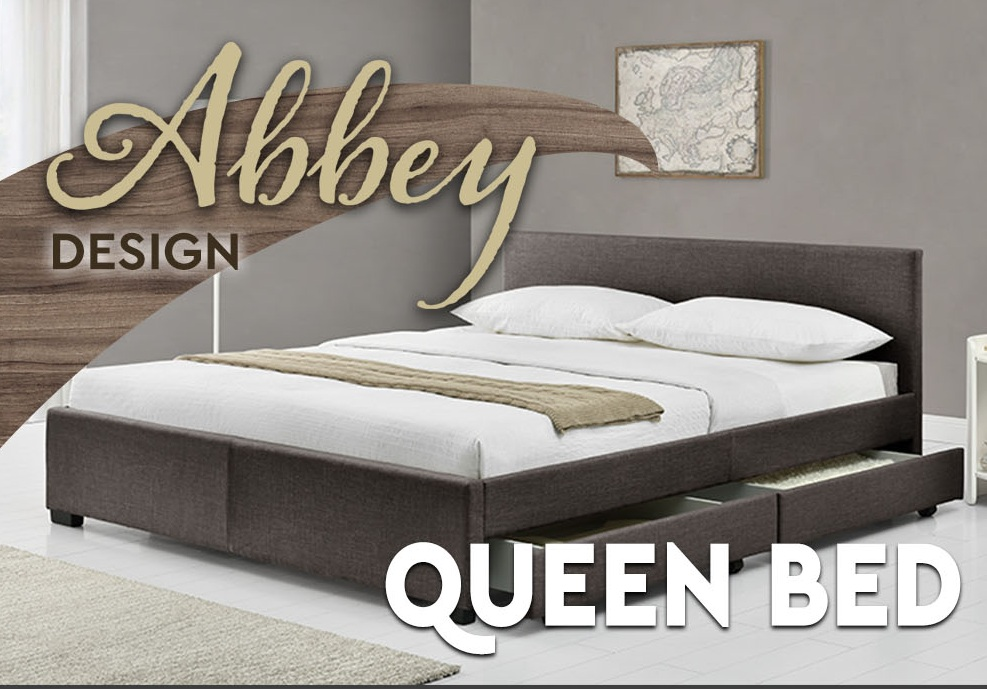 abbey king queen size bed frame with 4 storage drawers in 6 fabrics colours ebay. Black Bedroom Furniture Sets. Home Design Ideas
