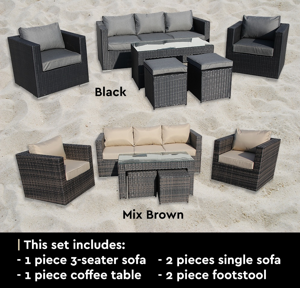 padang wicker rattan sofa lounge indoor outdoor patio. Black Bedroom Furniture Sets. Home Design Ideas