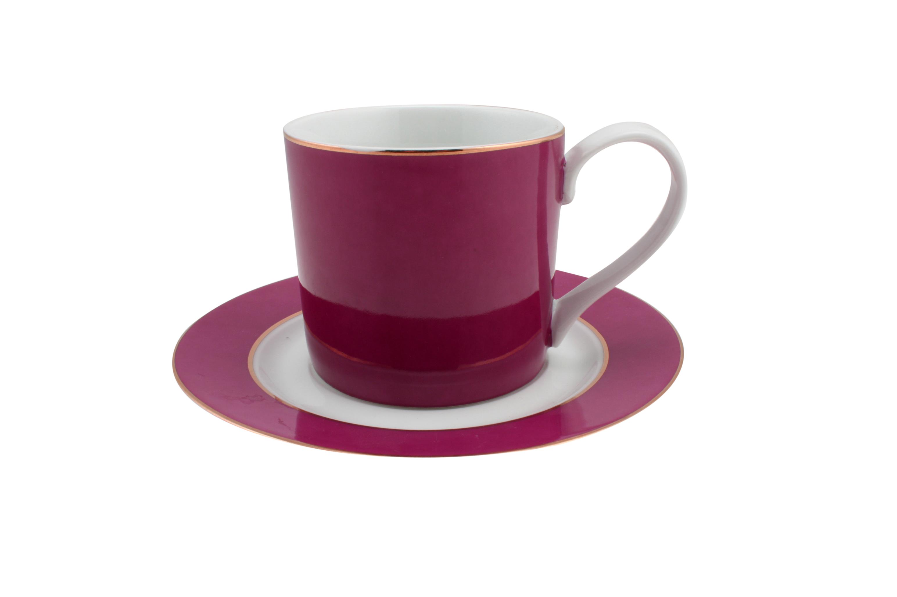 Set-of-12-White-Pink-Ceramic-Teacup-Saucer-Set-Minimal-Modern-Kitchen-Bulk