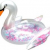 Inflatable Giant Pearl White Swan Multi Feathers