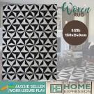 Woven Geo Tile Rug | Multi | 150 x 240cm