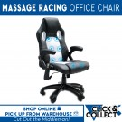 8 Point Massage Executive Racing Office Chair| White