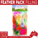 24x Easter Feather Pack Filling Multi Colour