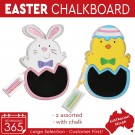 24x Easter Chalkboard With Chalk