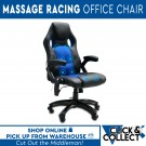 8 Point Massage Executive Racing Office Chair | Blue