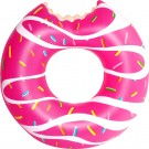 Kids Pink Glazed Donut Inflatable Ring